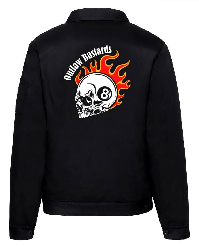 Pánská bunda Outlaw Bastards 8ball Skull Jacket