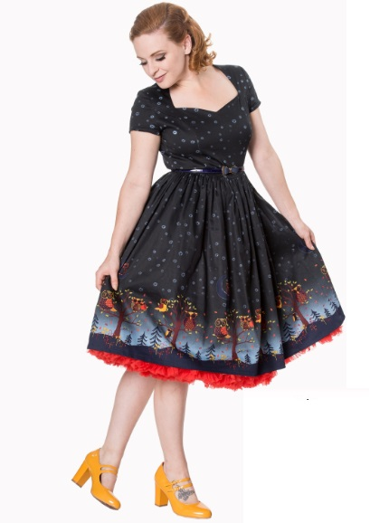 Dámské šaty Rockabilly Retro Pin Up Banned Lone Traveller Dress