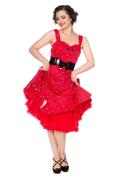 Dámské šaty Rockabilly Retro Pin Up Banned Future Halter Dress