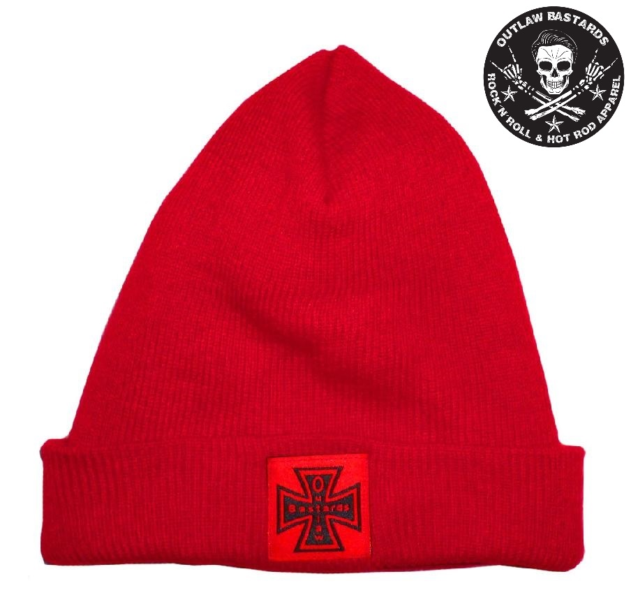 Kulich Outlaw Bastards Beanie Cross Red