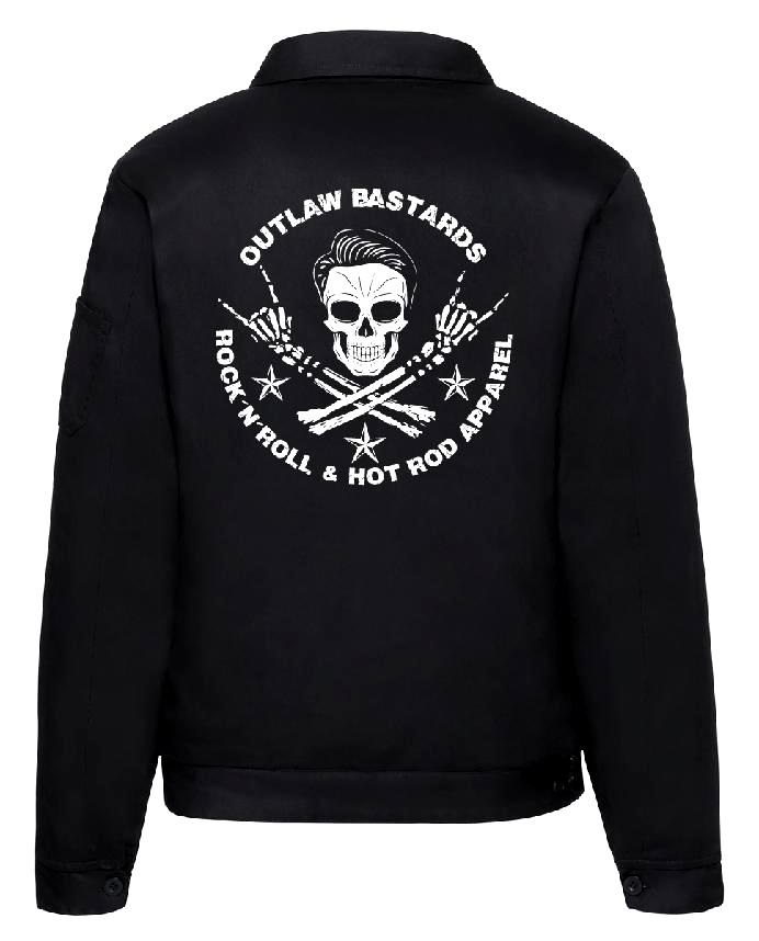 Pánská bunda Outlaw Bastards Skull Jacket