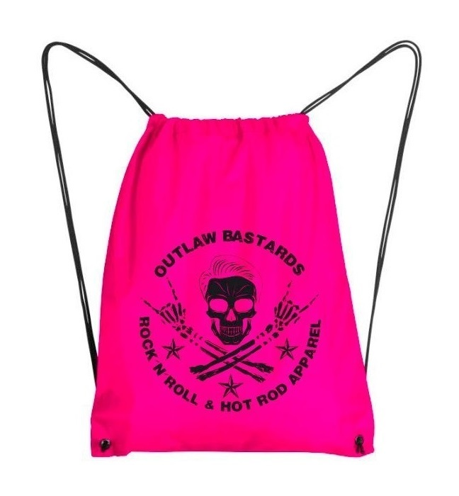 Batoh Outlaw Bastards Gym Bag Skull Pink