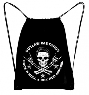 Batoh Outlaw Bastards Gym Bag Skull